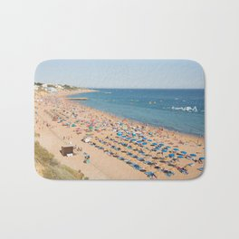 Albufeira beach Portugal Bath Mat
