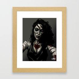 Zombie Jessi Framed Art Print