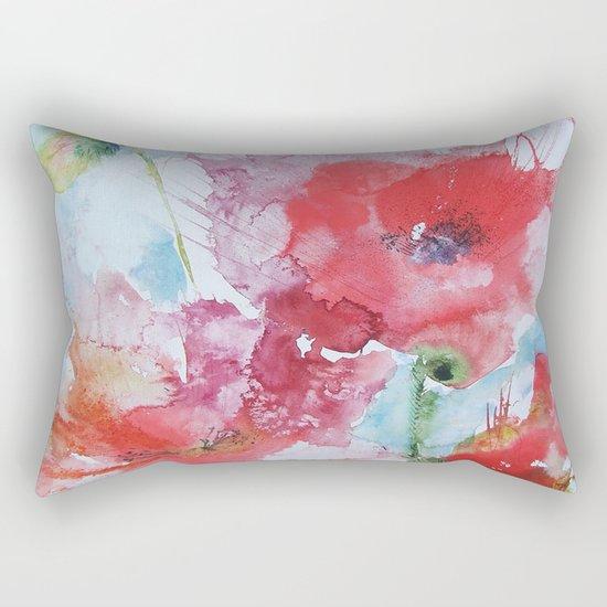 Poppies 04 Rectangular Pillow