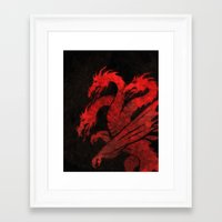 dragons Framed Art Prints featuring Dragons by Narwen