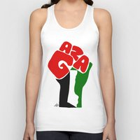 palestine Tank Tops featuring GAZA by Osama hajjaj