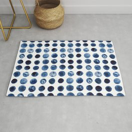 Blueberries | Watercolour Pattern Rug