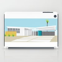 mid century modern iPad Cases featuring mid-century modern house four by Aubrey Doodle