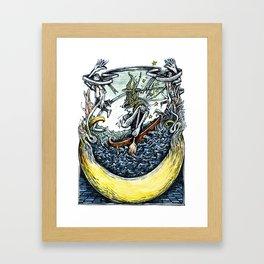 Crescent Canoeist Framed Art Print