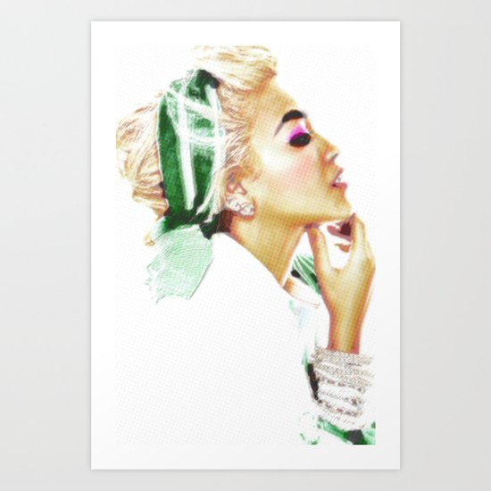 THOUGHT OF A WOMAN Art Print