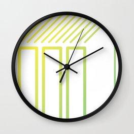 Geometrie gelb Wall Clock