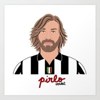 pirlo Art Prints featuring ANDREA PIRLO - JUVENTUS by THE CHAMPION'S LEAGUE'S CHAMPIONS