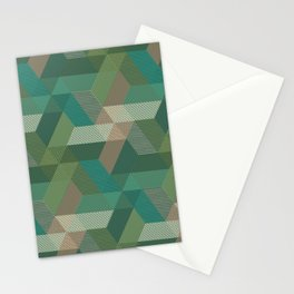 Patchwork Parallelograms Pattern Stationery Cards