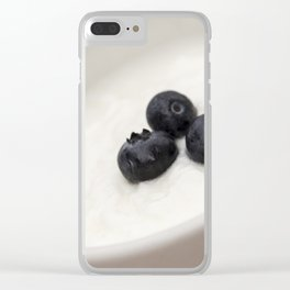 Yogurt and blueberries Clear iPhone Case