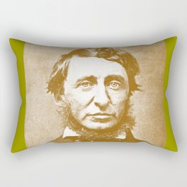 Thoreau Pillow/Thoreau Blanket/Thoreau Rug Rectangular Pillow