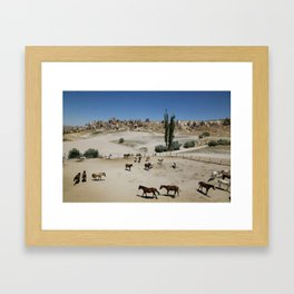 Horses in Goreme Framed Art Print
