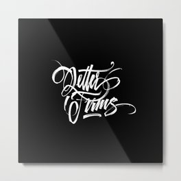 Letter Forms Metal Print