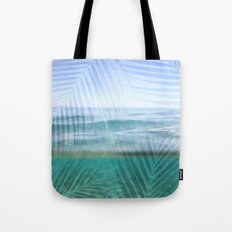 Palms over water  Tote Bag