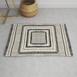 Black & White Symmetrical Pattern #2 Rug