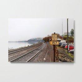 Chambers Creek Train Tracks Metal Print