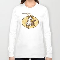 mythology Long Sleeve T-shirts featuring  valkyrie of Norse mythology female rider warriors by patrimonio