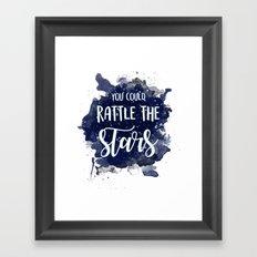 THRONE OF GLASS -- Rattle the Stars Framed Art Print