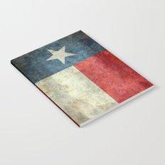 Texas state flag, vintage banner Notebook