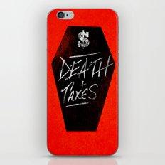 Death & Taxes iPhone & iPod Skin