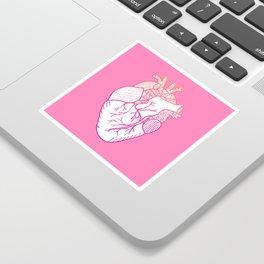 Designer Heart Pink Sticker