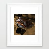 kermit Framed Art Prints featuring Bronze Kermit by Rob Hawkins Photography