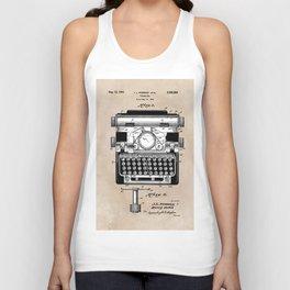 patent art typewriter Unisex Tank Top