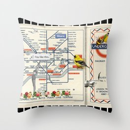 You Like This in London Throw Pillow