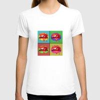 lips T-shirts featuring lips  by mark ashkenazi