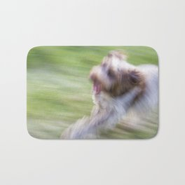 Brown Roan Italian Spinone Dog in Action Bath Mat