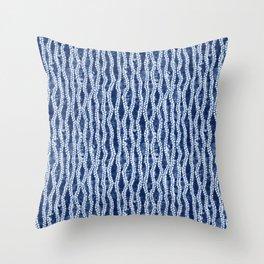 Shibori Eight Throw Pillow