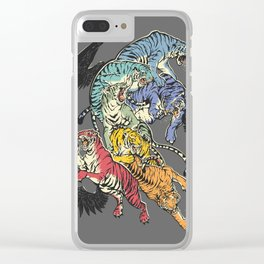 Seven Caged Tigers Clear iPhone Case
