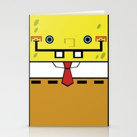 spongebob Stationery Cards featuring SpongeBob by nu boniglio
