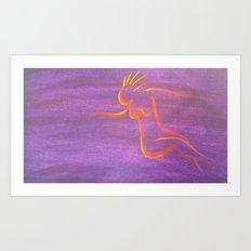 Moon Goddess II Art Print