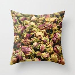 Rose Tea Throw Pillow