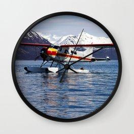 Beaver Float Plane Photography Print Wall Clock