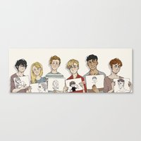 les mis Canvas Prints featuring Les mis - arty friends by Little wadoo
