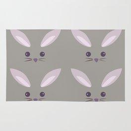 Pattern- Gray Bunny Rug