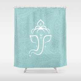 Blue Ganesh - Hindu Elephant Deity Shower Curtain