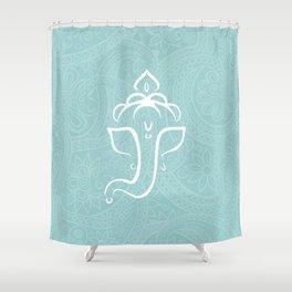 Blue Ganesh - Hindu Elephant Deity Shower Curtain