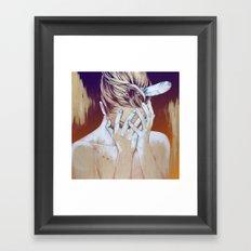 It hurts… (Duele) Framed Art Print