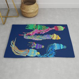 Cool Jellyfish 2 Rug