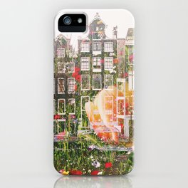 Flowers in Amsterdam iPhone Case