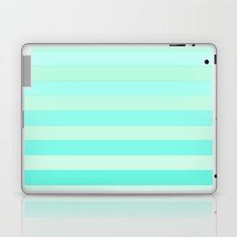Green Teal Stripe Fade Laptop & iPad Skin