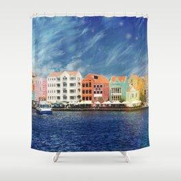 Willemstad, Curaçao Shower Curtain
