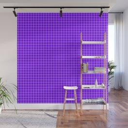 Purple Grid White Line Wall Mural