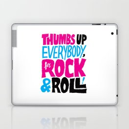 Thumbs Up Everybody, For Rock & Roll! Laptop & iPad Skin