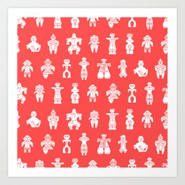 DOGU : red Art Print