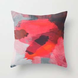 splash painting texture abstract background in red and brown Throw Pillow