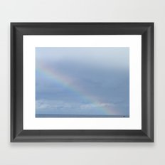 Rainbow fishermen Framed Art Print