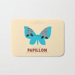 Papillon, Steve McQueen vintage movie poster, retrò playbill, Dustin Hoffman, hollywood film Bath Mat